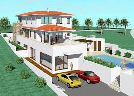 Farm House Design With Swimming Pool Concept