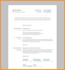 Html Resume Templates 9 Formal Cv Picture Appication Letter