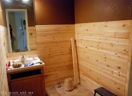 Tongue And Groove Bathroom Storage Unit by The Moon And Me Planked Wall Bathroom Behind The Scenes