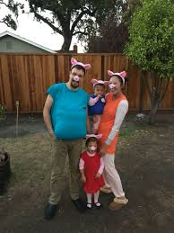 peppa pig mommy pig daddy pig and george halloween 2015 diy