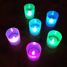 lumabase 6ct halloween battery operated led candle lights in