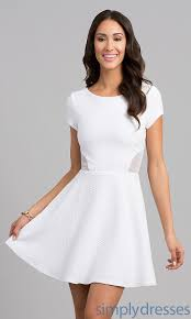 white short sleeve dress dress fa