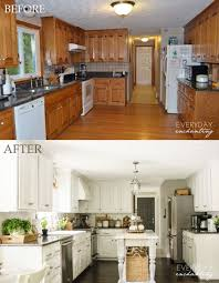 how to paint oak cabinets remodelaholic diy refinished and painted cabinet reviews