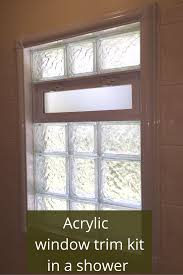how to get rid of nasty and rotten shower window trim shower