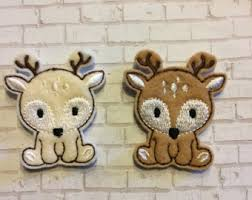 deer felt applique etsy
