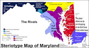 Ocean City Maryland Map Maryland Stereotype Map Maryland