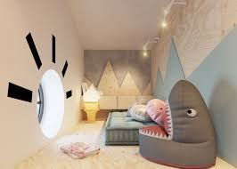 Fun Kids Bedroom Furniture Room 04 Fun Kids Room With Cute Cartoon Characters Bean Bags And