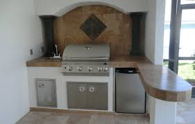 outdoor kitchen backsplash outdoor kitchen with arched backsplash and columns