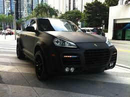 Porsche Cayenne Rims - matte black porsche cayenne turbo with body kit black rims