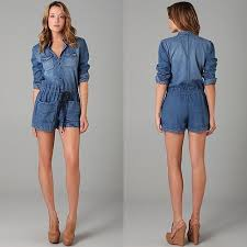 jean rompers and jumpsuits 50 best rompers jumpsuits oh my images on rompers