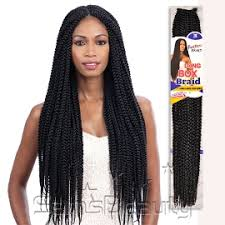 corn rolls under croshet hairstyle freetress synthetic hair crochet braids long large box braid 24