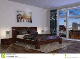 3d modernes schlafzimmer hotel stock abbildung bild 61426592