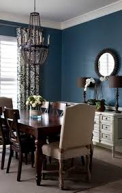 Before  After Open Plan Dining Room  Entry Room Colors Dark - Navy blue dining room