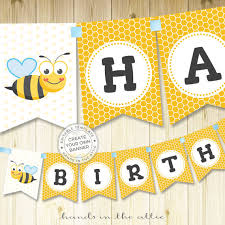 printable alphabet bunting banner bumblebee birthday party banner bumble bee banner alphabet