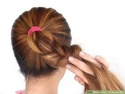 flower hair bun how to do a 3d flower bun 14 steps with pictures wikihow