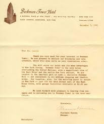Letter Of Intent For Sale Of Property by Panhellenic House To Beekman Tower Hotel Fraternity History