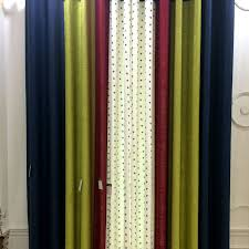 Navy And Green Curtains Cotton Linen Navy Green Curtains