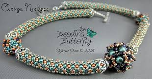 beaded bead necklace images The beading butterfly beaded art and jewelry by kassie jpg