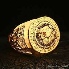 luxury gold rings images Luxury gold plated jewelry hip hop fashion ring lion head ring jpg