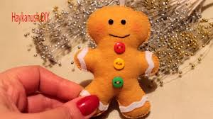 diy how to make a gingerbread cookie felt ornament