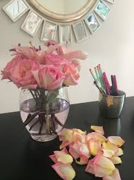Office Desk Flowers by Livelovediy Our 1970 U0027s House Makeover Part 9 The Office Makeover