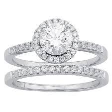 overstock bridal sets divina sterling silver austrian halo bridal set free