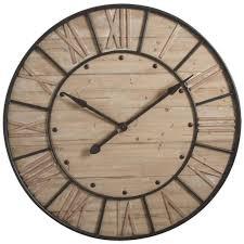 Grande Horloge Murale Carrée En Bois Vintage Achat Horloge Murale Industrie En Métal Et Bois 91x6cm Achat Vente