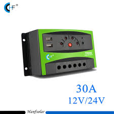 5pcs lot factory price 30a 12v 24v pwm solar charge controller led