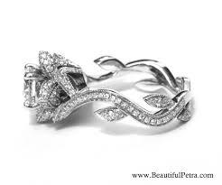 lotus flower engagement ring flower diamond ring wedding promise diamond engagement