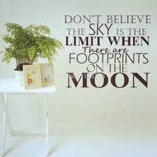 popular footprints quote wall sticker buy cheap vinyl wall stickers quotes don believe the sky limit when there are