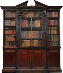 Narrow Mahogany Bookcase by A George Ii Mahogany Breakfront Bookcase Circa 1740 Possibly To A