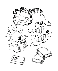 unique coloring pages image garfield pictures print