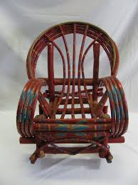 Child Adirondack Chair Outstanding Painted Child U0027s Adirondack Willow Rocking Chair From