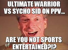 Ultimate Warrior Meme - a different kind of attitude page 6 grey dog software