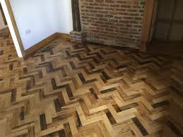 reclaimed herringbone parquet flooring project