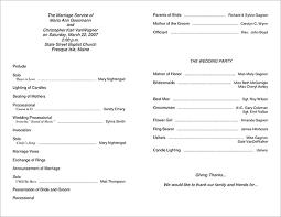 simple wedding ceremony program simple wedding program template free best bussines template