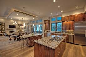 open great room floor plans open floor plan decorating ideas kitchen transitional with drop