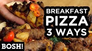 cuisine bosh breakfast pizza 3 ways bosh vegan