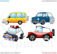 clipart of a police car jeep and other cars royalty free vector