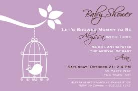 theme purple baby shower invitations