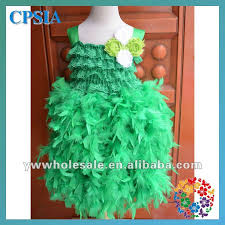 wholesale rainbow feather dress for baby 2013 new design lace