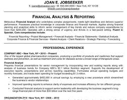 resume of financial analyst resume wonderful design ideas great resume examples 4 why this