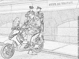 coloriage police de new york à imprimer pour les enfants dessin