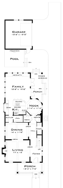narrow cottage plans narrow house plans modern house