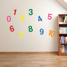 1 to 10 numbers wall stickers kids nursery play room home art zoom