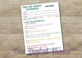 new business client information template honey and lace customer information card honey and lace customer