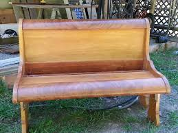 Bench Made From Bed Headboard Old Sleigh Bed Upcycled Into Garden Bench Gardening Pinterest