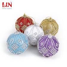 kerst 8 cm vast boor kralen luxe schuim ornamenten decoratie natal