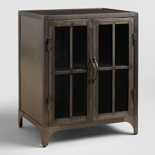 Metal And Wood Cabinet Metal Virgil Accent Table World Market