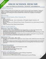 Sample Application Resume by College Application Resume Examples For High Seniors Best